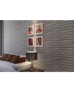 ورق حائط فوم ثلاثي الابعاد رمادي