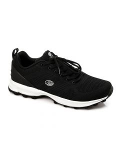 Activ Lace Up Hard Rubber Sole Sneakers - Black