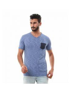 Activ Side Pocket Heather Blue T-shirt-Medium