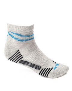 Activ Low Cut Cotton Ribbed Hem Socks - Grey & Navy Blue