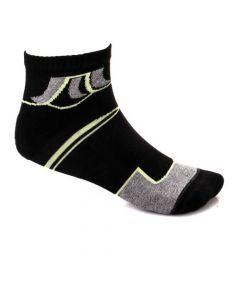 Activ Quarter Slip On Black & Grey Socks