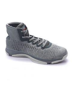 Activ High Neck Sportive Basketball Sneakers - Heather Grey-43