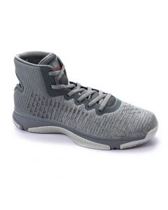 Activ High Neck Sportive Basketball Sneakers - Heather Grey-45