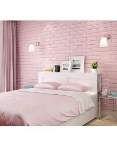 ورق حائط فوم ثلاثي الابعاد وردي