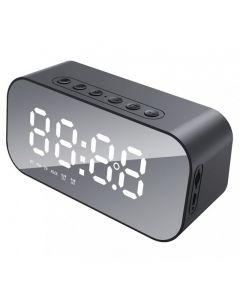 HAVIT Mirror Alarm Clock Bluetooth Speaker - Havit MX701 - Black
