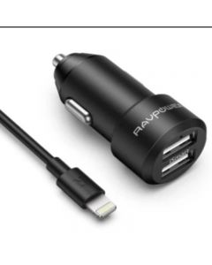 RAVPower / Car Charger / COMBO [2-Pack] (Car Charger 24W+Lightning Cable 1m) (RP-VC017) -Black