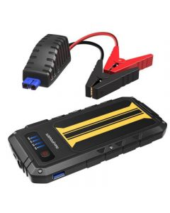 RAVPower Jump Starter battery and a 8000 mA car charger - and 300 mA power - Black & Yellow