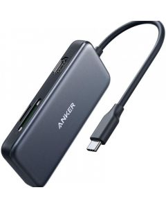 Anker 5-in-1 USB C Hub Adapter with 4K USB C to HDMI - SD and microSD Card Reader - 2 USB 3.0 Ports