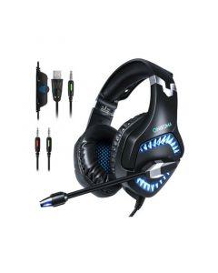 Onikuma K1-PRO Blue LED Gaming Headset With Noise Canceling Mic - Black/Blue