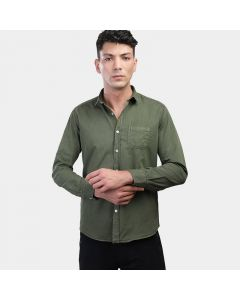 Coup Solid Long-Sleeves Chest Pocket Shirt 1200023