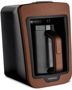 محضرة قهوة تركي تورنيدو أوتوماتيك 330مل ، 735وات لون بني × أسود مصممة بتقنية لومينا سينس ومزودة بنظام للحماية TCME-100