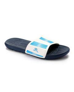 Activ Striped Slide Strap Slippers - Navy Blue & Light Blue