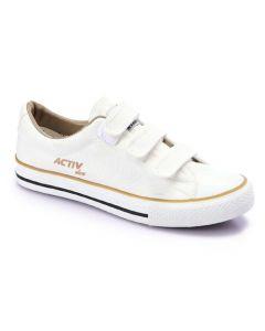 Activ Canvas Velcro Sneakers - White 2
