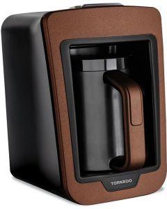 ماكينة صنع القهوة التركية أتوماتيك من تورنيدو Tcme-100، أسود بني