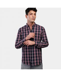 Coup Checked Regular Fit Collared Shirt with Long Sleeves