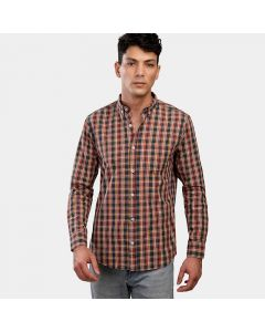 Coup Checked Regular Fit Collared Shirt with Long Sleeves 1200026/co