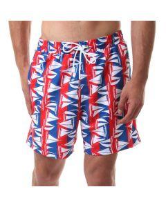 Activ Boats Printing Summer Swimming Shorts - Multicolour