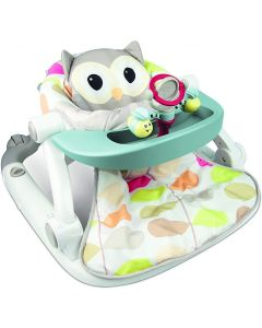 Sit-to-Walk Floor Seat with Toy Tray - Owl