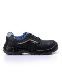 Activ All Black Men's Lace Up Safety Shoes-38