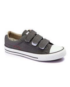 Activ Canvas Velcro Sneakers-Dark Grey-44