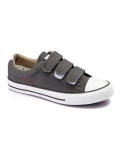 Activ Canvas Velcro Sneakers-Dark Grey-45