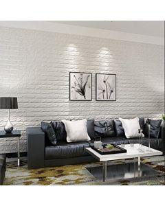 ورق حائط فوم ثلاثي الابعاد ابيض