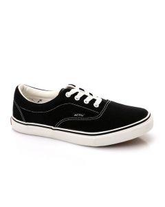 Activ Lace Up Canvas Round Toecap Sneakers - Black