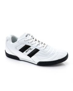 Activ Stitched Lace Up Black & White Sneakers  1