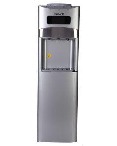 مبرد مياه جراند 3 حنفية بارد و ساخن و فاتر مع ثلاجة، فضي - WDQ-1195-F