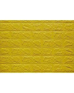 لاصق الحائط السحرى شكل طوب - اللون الاصفر