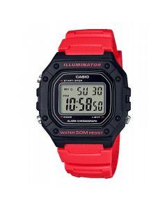 Casio Sport Watch, Digital, Resin Band For Unisex - W-218H-4BVDF