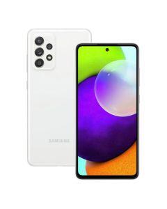 هاتف سامسونج جالاكسي A52 ثنائي الشريحة ، سعة 128 جيجابايت ، 8 جيجابايت رام ، 4 جي إل تي إي ، أبيض