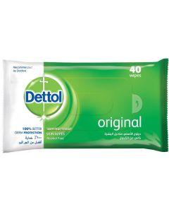 Dettol Original Anti-Bacterial Skin Wipes, 40 Wipes