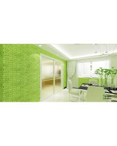 ورق حائط فوم ثلاثي الابعاد اخضر