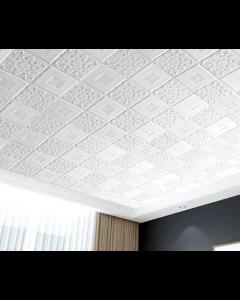ورق حائط فوم ثلاثي الابعاد للاسقف والحوائط ابيض