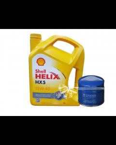 Shell Helix HX5 15W-50 - 4L + FREE Filter