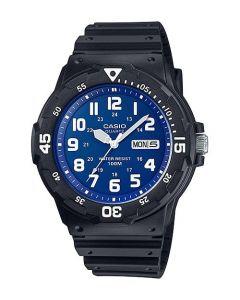 ساعة كاجول كاسيو للرجال، انالوج، سوار بلاستيك مطاطى، ازرق - MRW-200H-2B2VDF