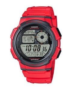 ساعة كاجوال كاسيو للرجال، ديجيتال، سوار بلاستيك، احمر  - AE-1000W-4AVDF
