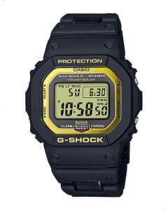 ساعة كاجوال جي شوك كاسيو للرجال، ديجيتال، سوار سيليكون، اسود  - GW-B5600BC-1DR