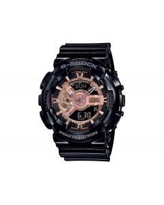 ساعة رياضية جي شوك كاسيو للرجال، انالوج - ديجيتال، سوار بلاستيك، اسود  - GA-110MMC-1ADR