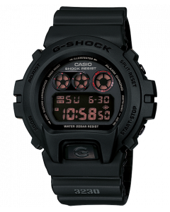 ساعة رياضية جي شوك كاسيو للرجال، ديجيتال، سوار بلاستيك، اسود  - DW-6900MS-1DR