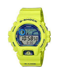 ساعة رياضية جي شوك كاسيو للرجال، ديجيتال، سوار سيليكون، اصفر نيون  - GLX-6900SS-9DR