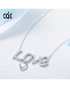 سلسلة من حروف الحب، فضة إسترليني - CNY-0199