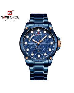 نافيفورس ساعة يد من الستانلس ستيل بعقارب - NF9152 للرجال
