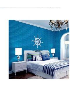 ورق حائط فوم ثلاثي الابعاد ازرق