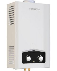 سخان مياه غاز بشاشة ديجيتال 6 لتر من تورنيدو GHM-C06CTEW - أبيض