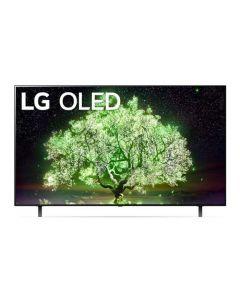 تلفزيون إل جي من سلسلة A1 مقاس 55 بوصة بتقنية OLED وتصميم شاشة السينما بدقة 4K يدعم تقنية HDR ونظام ويب الذكي وتطبيق ثينك وخاصية تعتيم البكسل OLED55A1PVA-AMAG أسود