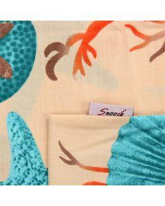 طقم ملاية سرير بأستيك قطعتين (  تصميم السي لايف)