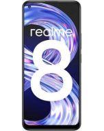 هاتف Realme 8 بسعة 128 جيجابايت وذاكرة وصول عشوائي سعة 8 جيجابايت وتقنية 4G LTE باللون الأسود