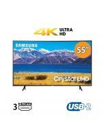 تليفزيون سامسونج منحني 55 بوصة الذكي 4K فائق الدقة ال اي دي، اسود - UA55TU8300